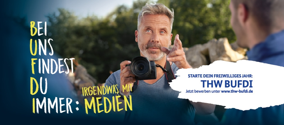 Werbebanner: Bei uns findest du immer was mit Medien